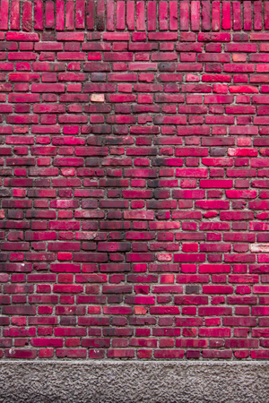 sorted: Sorted old red-pink brick wall textures and background Stock Photo
