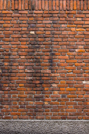 sorted: Sorted old bright orange brick wall textures and background