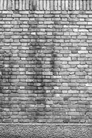 sorted: Sorted old brick wall textures and background in black and white