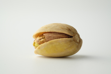 nutshell: Isolated pistachios with white background
