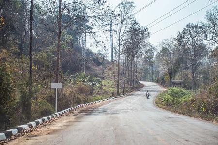 curve road: car driving curve road