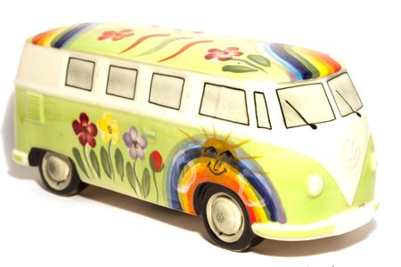 volkswagen: Van hippie retro