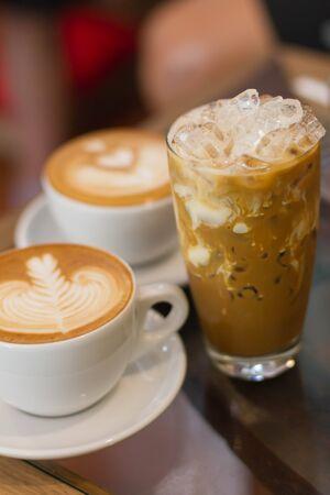 late: Ice coffee late Stock Photo