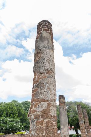 cuatro: The historic pole of thai temple Stock Photo