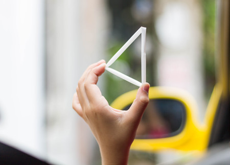 bendy straw: The triangle white straw in childrens hand