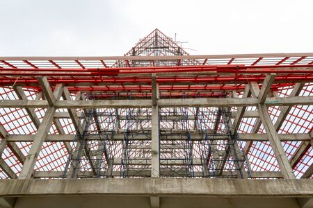 steel structure: The steel structure of the temple