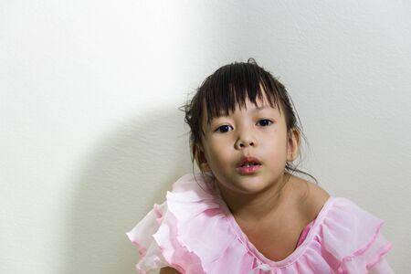 national costume: Happy asian children in Thai national costume