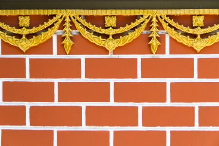 hinder: Brick wall with thais tracery Stock Photo