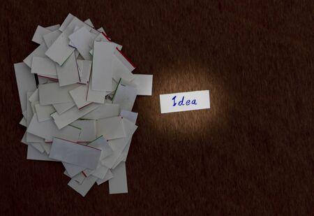 heaps: Idea concept, Idea paper was heaps of paper. Stock Photo