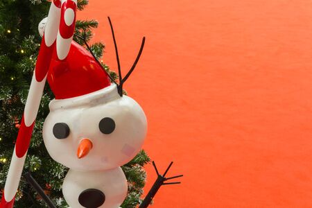 stovepipe hat: Snowman with space background for christmas background