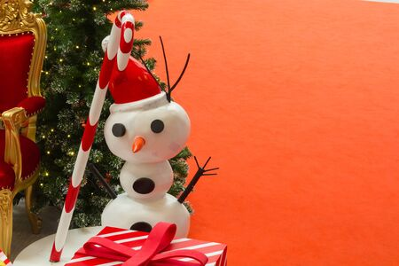 stovepipe: Snowman with space background for christmas background