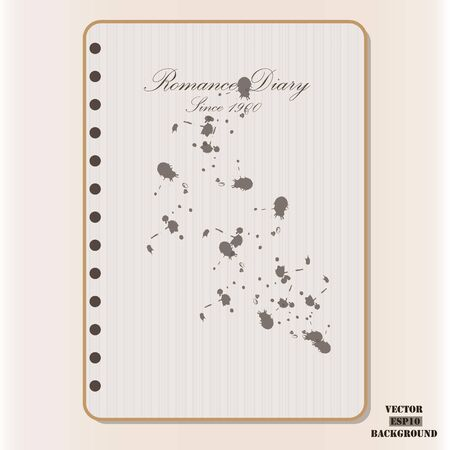 diary: Vector Cover romance diary for Valentines day