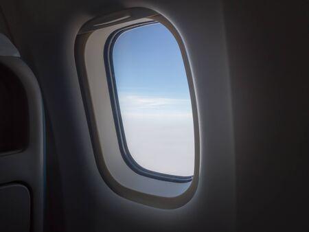 plane window: Plane Window View Stock Photo