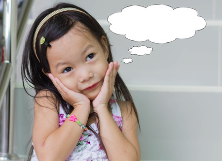 Student asian children is thinking for something, Education concept Stock fotó