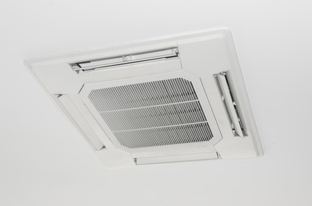 Mask of air conditioner 4 way. Concept air conditioner spare part.