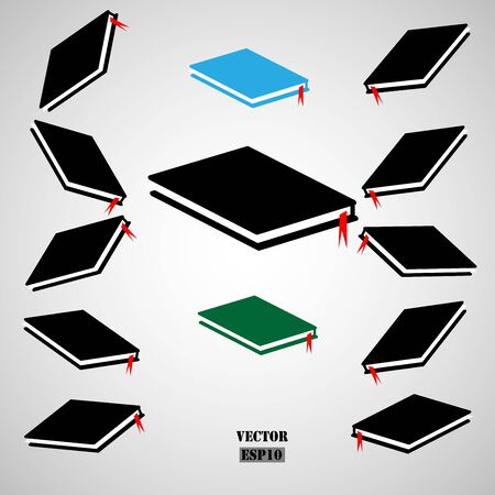 Book icon. Vector education concept design. Illustration