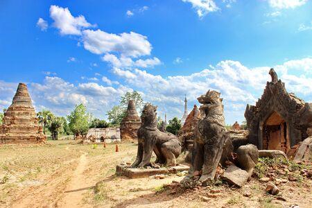 レオ ミャンマー、ピューの古代都市 - Halin、ミャンマー 写真素材