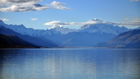 Mount Cook and Lake Pukaki, New Zealand  photo