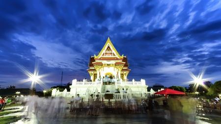 the vesak day in thailand photo