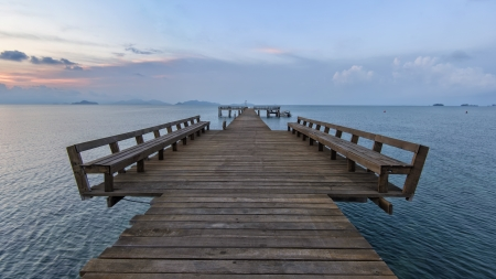 The long boardwalks to the sea  photo