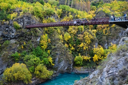 bungee jumping: Nueva Zelandia Foto de archivo