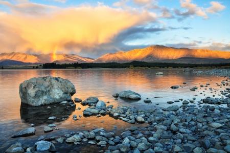 good shepherd: lake tekapo New Zealand