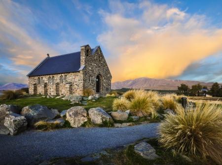 good shepherd: church of the good shepherd New Zealand Stock Photo