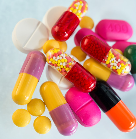 Many colorful pills  photo