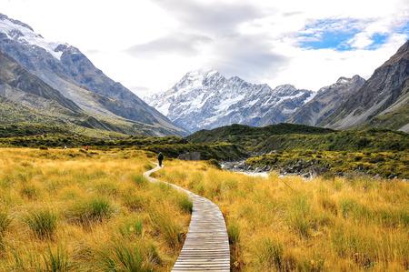 Parc national Aoraki Mount Cook Banque d'images