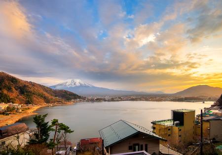 Mt Fuji view from the lake Kawaguchiko photo