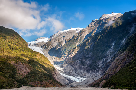 franz josef: Glacier in Westland National Park on the South Island of New Zealand.