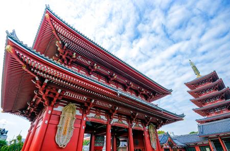 asakusa: Asakusa Temple Stock Photo