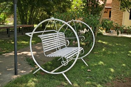 swing seat: swing seat in the garden