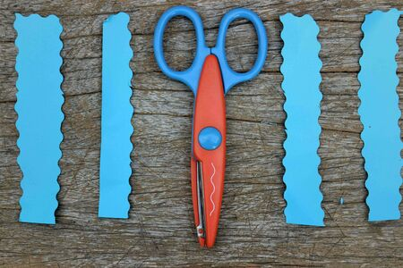 cut paper: Scissors cut paper Stock Photo