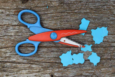 scissors cut: Scissors cut paper Stock Photo