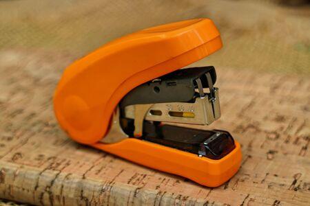 stapler: Stapler on the book Stock Photo
