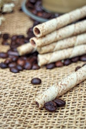 wafer: Wafer rolls, coffee flavor