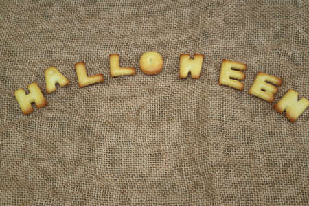 halloween message: Halloween message design on background