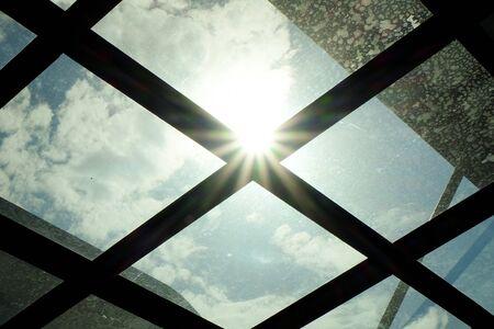 mirror: Sun and the mirror Stock Photo