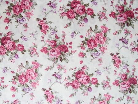 薔薇の花束デザイン シームレス柄ファブリックの背景として 写真素材 - 18807253