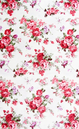 Rose bouquet design Seamless pattern on fabric as  background photo
