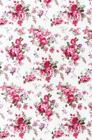 vintage background pattern: Rose bouquet design Seamless pattern on fabric as background