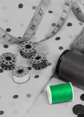 zip tie: Sewing utensils Stock Photo