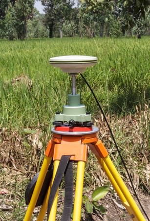 GPS 測量 写真素材