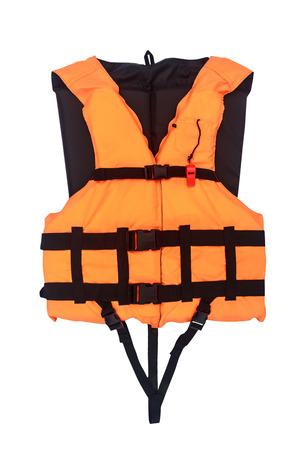 Orange Life Jacket  Isolated , with clipping path photo