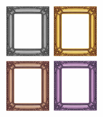 frame wood: set of vintage frame with blank space, with clipping path