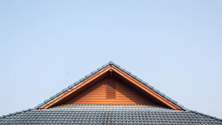 gable of the house with blue sky