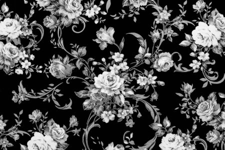 flower drawings: Rose Fabric background