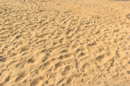 sand backgrounds and texture with Footprints  at sam pam bok, Ubon-ratchathani, North-east of Thailand , Hat hong  photo