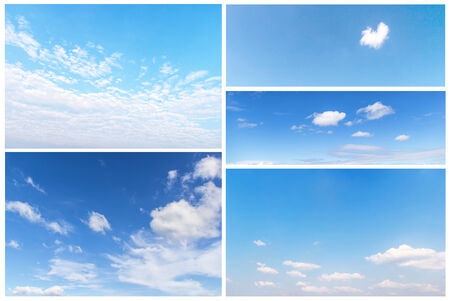 set of clouds in the blue sky. photo